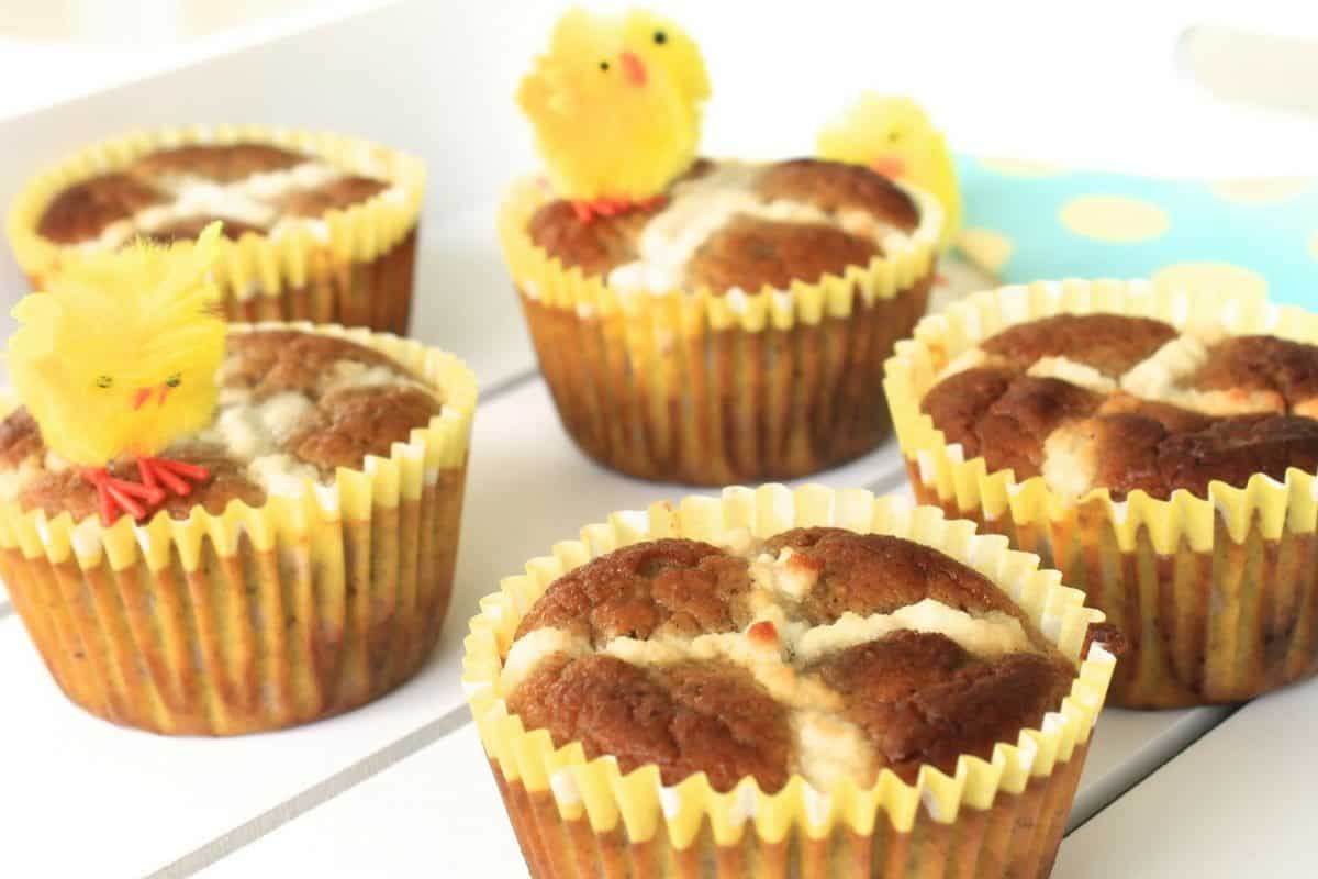 A simple, healthy and clean recipe for hot cross bun muffins.This recipe is free from gluten, dairy and refined sugar. Ideal for kids as well as grown up's!