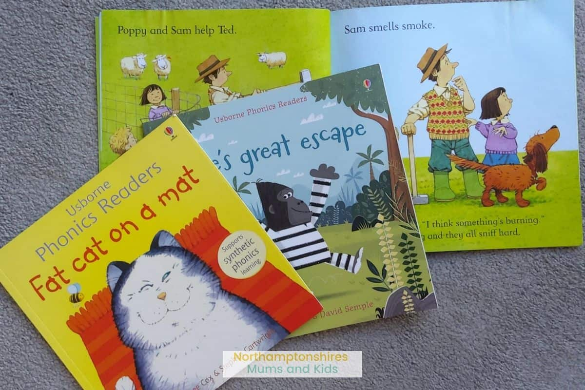 Usborne phonics readers help your child develop their language from the age of 2 upwards. They're fun books that have been created with a language expert. For more amazing book reviews check out www.northamptonshiremumsandkids.co.uk