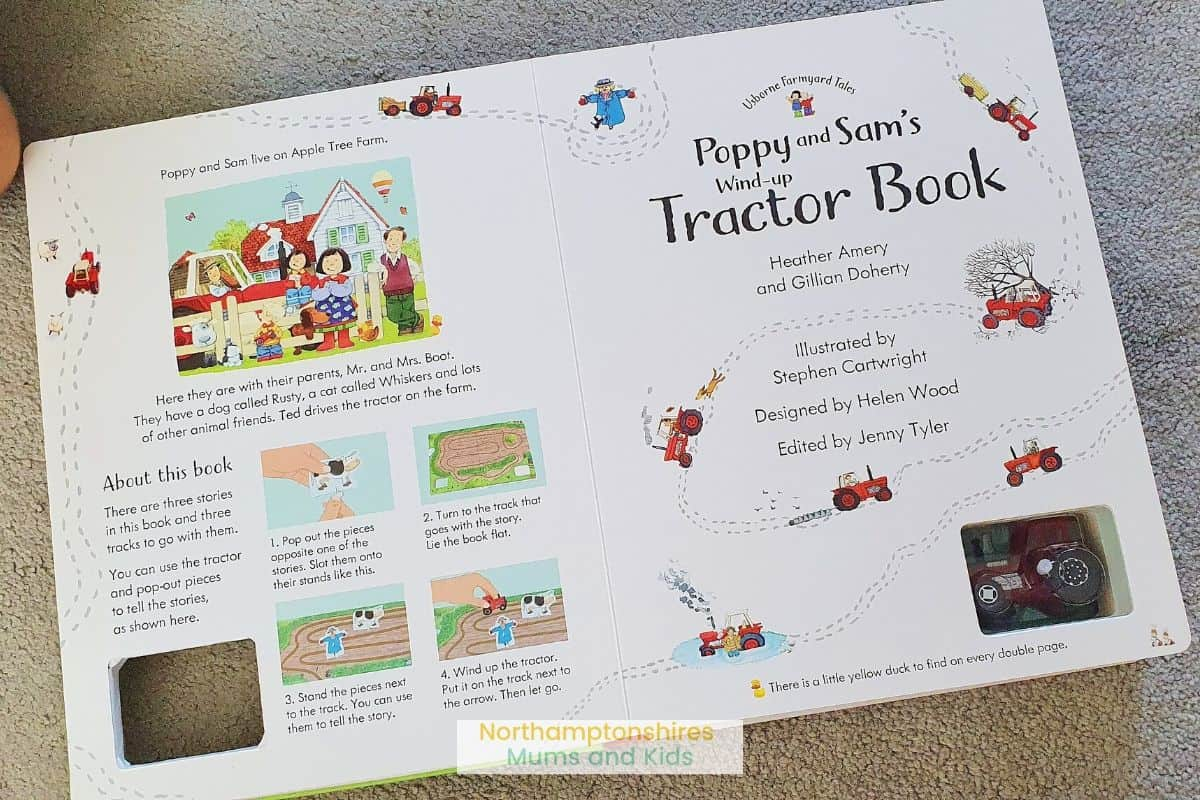 Poppy & Sam's wind-up tractor book is a great activity book for kids who love the tales of Apple Tree Farm. For more great kids book reviews check out www.northamptonshiremumsandkids.co.uk
