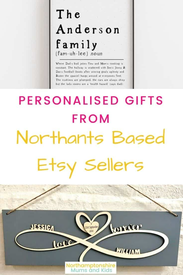 Northants Etsy Sellers Of Personalised Gifts