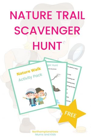 Northants has some amazing outdoor spaces. I put together a free nature trail scavenger hunt suitable for toddlers and primary-aged children.