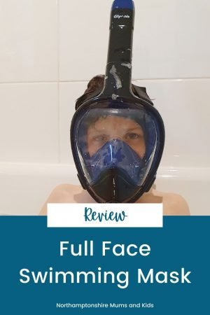 This full-face swimming mask solves so many of the typical swimming mask issues kids have. It doesn't pull the hair, the mask stays above water and it doesn't fog up.