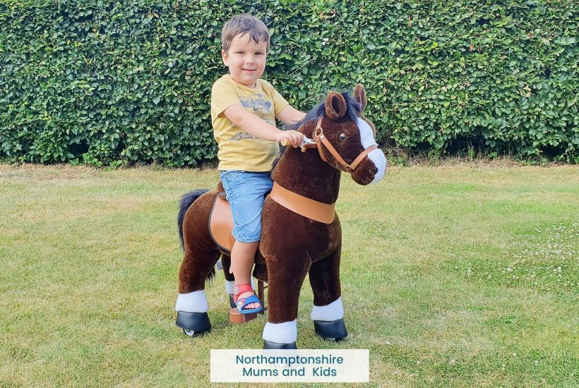 Kids love this Ponycycle ride on horse. No batteries are needed and they are suitable for ages 3 - 9 with pedal pads for shorter legs.